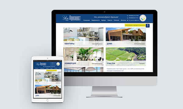 <p>Website of Dnipro real estate agency</p>