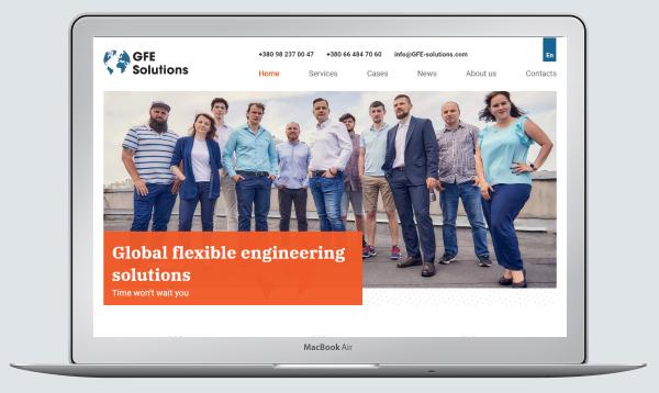 Сайт створений для інжинірінгової компанії
