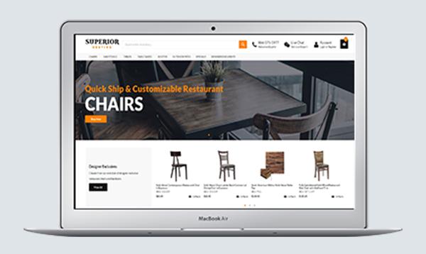 Сайт створено для компанії Superior Seating, яка спеціалізується на комерційних меблях