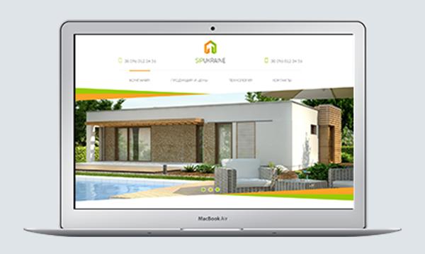 Сайт створено для компанії фасадних термопанелей